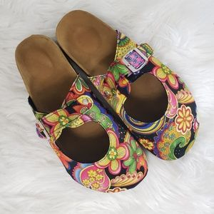 Bright Floral Paisley Clogs
